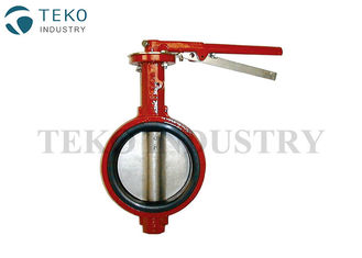 China Bubble Seal Rubber Seat API609 Butterfly Valve ISO7005-2 For Petrochemical Processing supplier