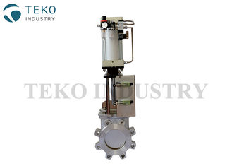 China Pneumatic Actuated 4 Inch Knife Valve Removable Seat Zero Leakage For Gasifier supplier