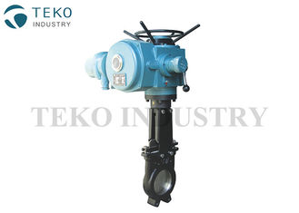 China CF8 CF8M Knife Valve , Motorized Electric Actuator Valve For Food Processing supplier