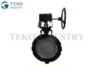 China High Cycle Worm Gear Metal Seated Butterfly Valve Minimal Wear With Zero Leakage supplier