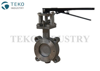 China Lever Operations High Performance Butterfly Valves Metal Seated For High Temp Service supplier