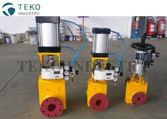 China Regulating Control Slurry Pinch Valve Pneumatic Actuated Flanged End With Positioner supplier