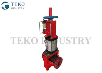 China Rubber Sleeve Automated Slurry Pinch Valve , Pneumatic Pinch Valve For Iron And Steel supplier