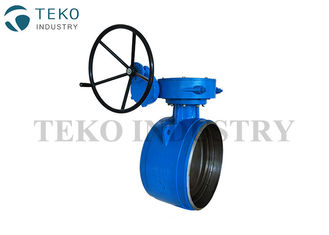 Butt Weld Eccentric Butterfly Valve ,Worm Gear Driven Three Offset Butterfly Valve For Power Station