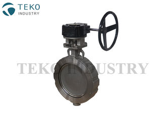 China High Performance Double Offset Butterfly Valve Size Optional Flangeless For Steam Pipe supplier
