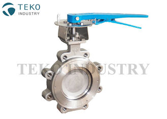 "China Carbon Steel Eccentric Butterfly Valve , 600LB 8"" Fully Lugged Butterfly Valve supplier"