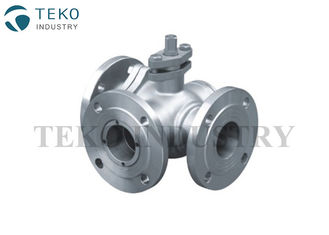 China Three Way JIS Ball Valve L Port T Port Soft Seated For Oil / Gas Applications supplier