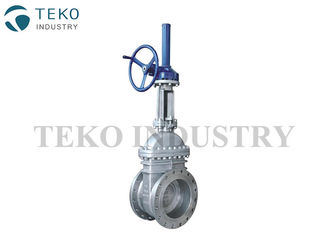 China Bevel Gear Opeartion Wedge Gate Valve , Bolted Bonnet End Gate Valve For Water Service supplier