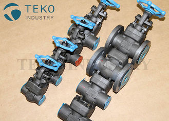 China Full Port Forged Steel Valves , High Pressure Welded Flanged End Bolted Bonnet Gate Valve Class 800 ~ 2500LB supplier