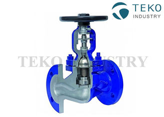 China DIN Bellow Seal Globe Valve Manual Operated For Steam And Thermal Oil supplier
