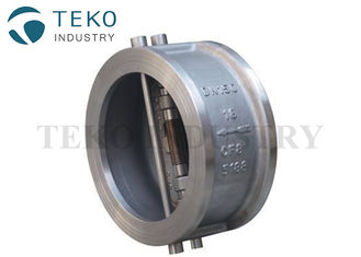 China Metal Seated Short Pattern Dual Disc Check Wafer Valve A216 WCB Body H76H Long Lifespan supplier