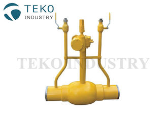 China Trunnion Ball Fully Welded Flanged End Ball Valve Underground Installation supplier