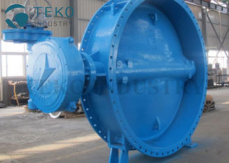 China Soft Seated Two Flanged End Eccentric Butterfly Valve For Clear Water supplier