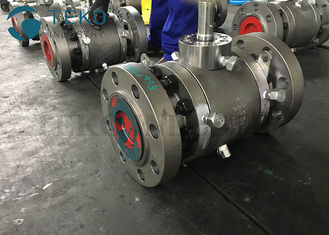 China API6D Forged Steel F51 Duplex Trunnion Ball Valve Up To 2500Lb Worm Gear Operated supplier