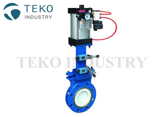 China Manual Abrasion - Resistant Ceramic Lining Knife Gate Valve For Ash And Powder supplier