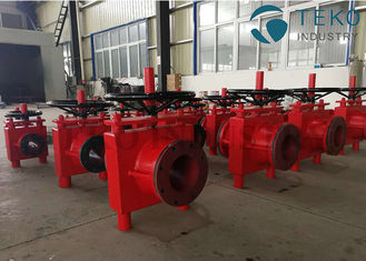 China Manual Operated High Pressure Slurry Pinch Valve For Ash & Powder Wear Resistant supplier