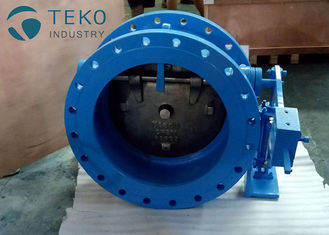 China Ductile Iron Silent Tilted Disc Wafer Check Valve With Hydraulic Damper No Water Hammer supplier