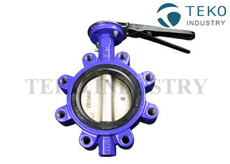 Concentric API609 Ductile Iron Butterfly Valve Lug Style Resilient Seated For Water Plants