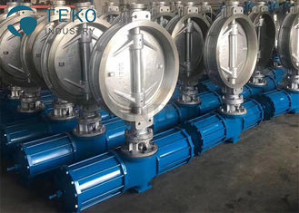 "China Carbon Steel Pneumatic Triple Eccentric Butterfly Valve Wafer Type Size Rating 2"" To 60"" supplier"