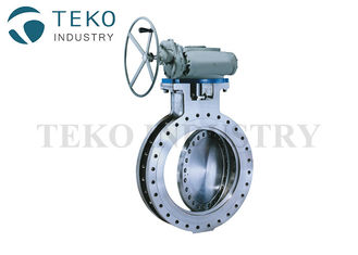 China Triple Eccentric Gear Operated Butterfly Valve High Temp WC6 WC9 Hard Seated Butt Weld End supplier