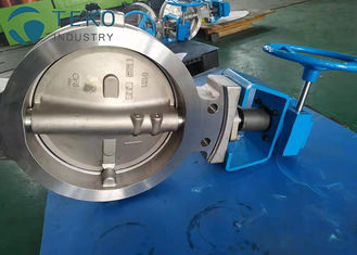 China High Temp Wafer Lug Type Modulating Butterfly Valve Worm Gear Stainless Steel supplier