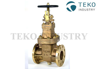 China Non Rising Stem BC6 Material Marine Gate Valve Full Port Manual Operated supplier
