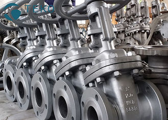 "China Cast Steel 150Lb Solid Wedge Gate Valve For Oil /  Gas  Size NPS 2""-48"" supplier"