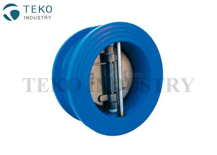 Ductile Iron GGG40 Wafer Check Valve , Dual Plate Wafer Type