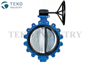 Gear Operation API609 Butterfly Valve , JIS 10K Drilled Cast Iron Butterfly Valve For Water Prifier