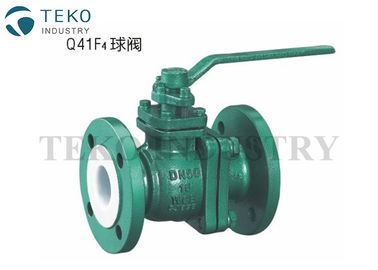 Corrosion Resistant PFA PTFE Lined Valves Zero Leakage With Floating Ball Design