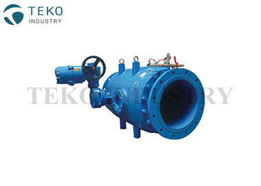 Gear Operation Flow Regulating Industrial Valves Ductile Iron Body Piston Type TEKO Brand