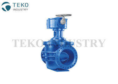 Top Entry Double Seated Industrial WCB Ball Valve Cone Shape With No Clogging
