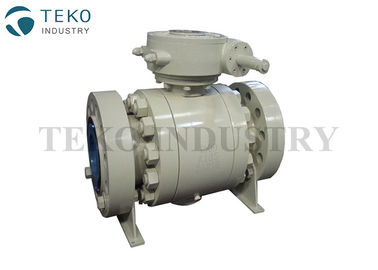 High Pressure Forged Steel Industrial Ball Valves 3 PCS Body For Corrosive Gas