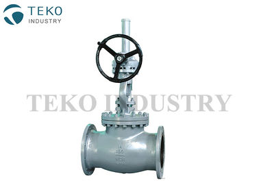 API Standard BS 1873 Globe Valve , Bevel Gear Operated Globe Valve With WCB Body