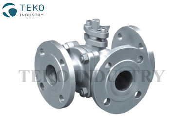 Split Body Side Entry Design JIS Valve , L Port Three Way Ball Valve In SCS13 SCS14 Material