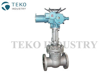 Electric Actuated / Motor Operated Gate Valve Hard Faced Pipeline With Simple Structure